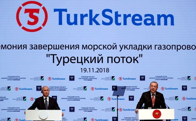Erdoğan, Putin attend TurkStream sea section completion ceremony in Istanbul