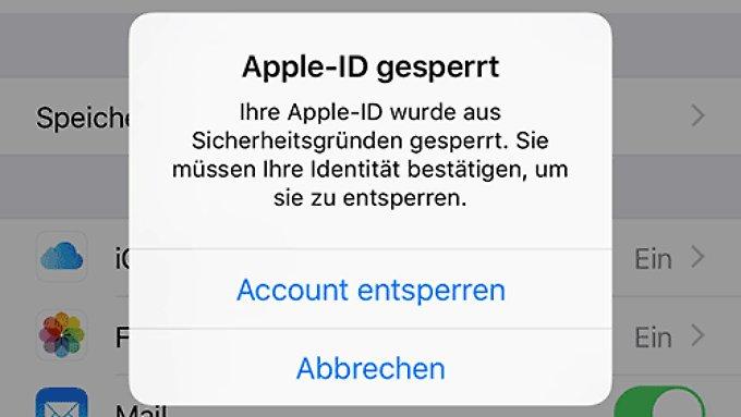iPhone-Nutzer melden gesperrte Apple-ID