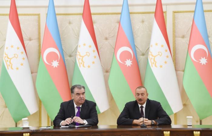 Se aprueba Declaración Conjunta de los presidentes de Azerbaiyán y Tayikistán