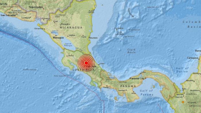 Un sismo de magnitud 5,1 sacude Costa Rica