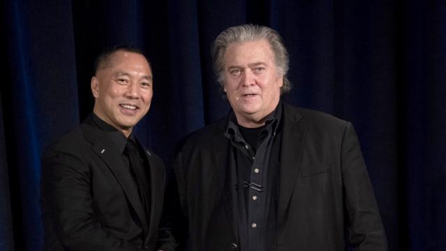 Steve Bannon et un milliardaire chinois s