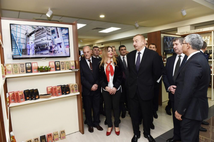 President Ilham Aliyev observes Azerbaijan's trading house in Minsk