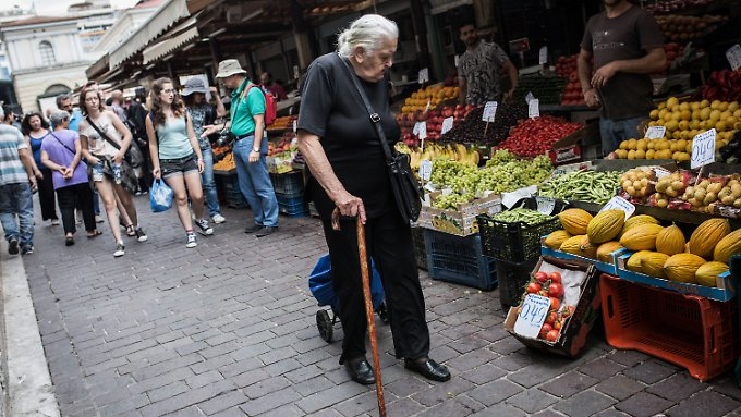Griechen leiden unter teuren Nahrungsmitteln