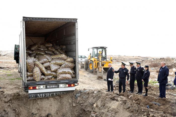 Sumqayıtda 26 ton yararsız kartof məhv edilib
