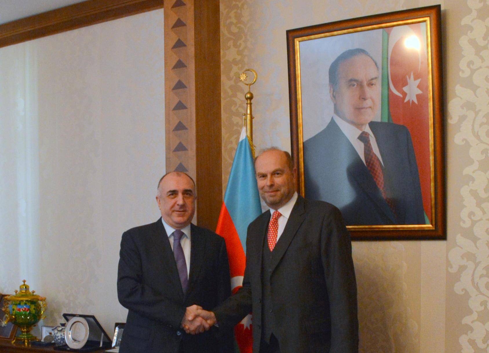 Azerbaijani FM receives outgoing Austrian ambassador