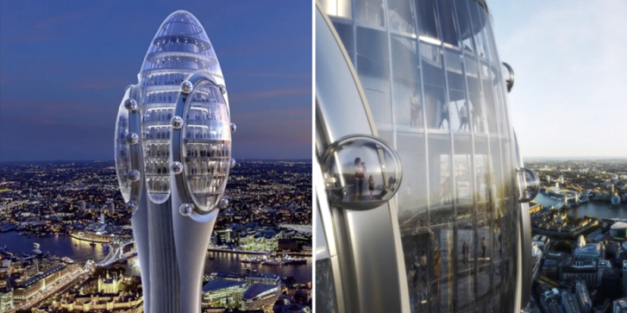 La ville de Londres va accueillir une immense tour mouvante de 305 mètres en forme de tulipe