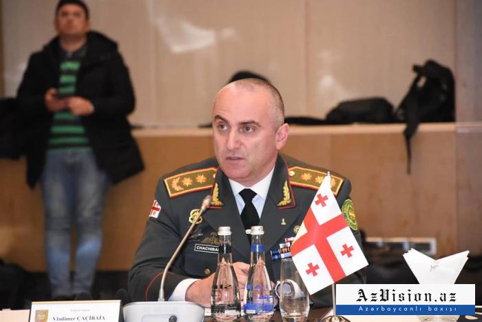 """""""Hərbi əməkdaşlığımız çox mühümdür""""- Gürcü general Bakıda"""