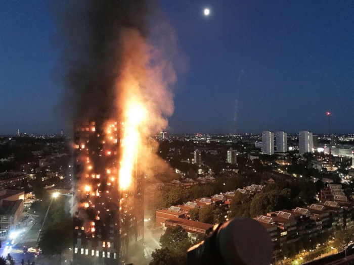 Five arrested over Grenfell Tower Effigy Fire - VIDEO