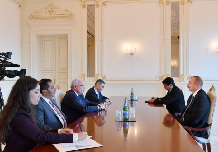 President Aliyev receives delegation led by Palestinian foreign minister - UPDATED