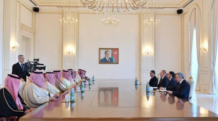President Aliyev receives delegation led by Saudi Arabian interior minister -UPDATED