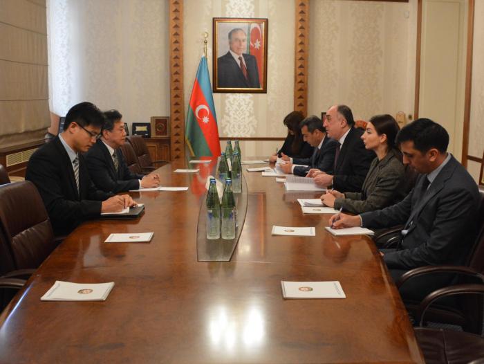 Azerbaijani FM receives newly appointed S. Korean envoy