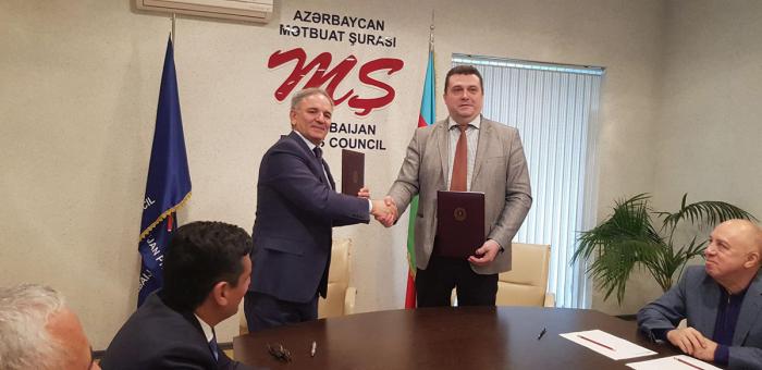 Mətbuat Şurası Rusiya Jurnalistlər İttifaqı ilə memorandum imzaladı