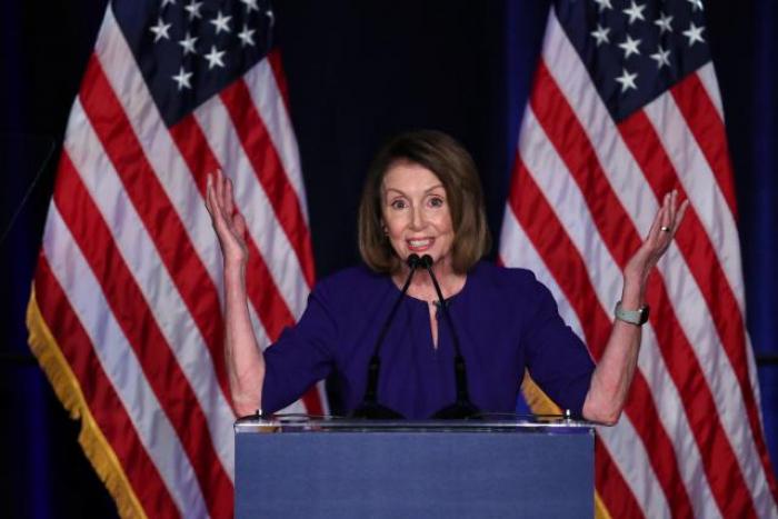 Pelosi urges bipartisanship as Democrats win U.S. House