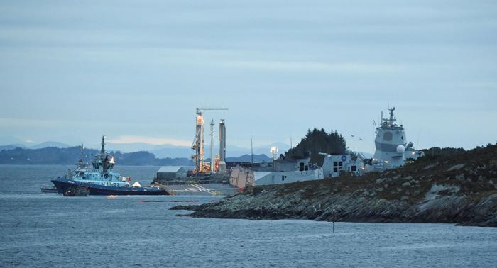 Varios heridos por colisión de una fragata con un petrolero en aguas de Noruega