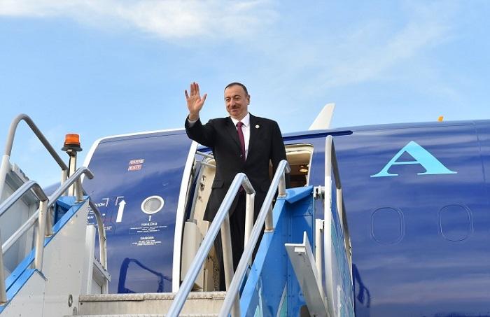 إلهام علييف يسافر إلى تركمانستان