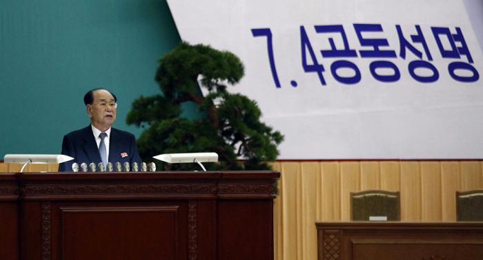 Presidente de la Asamblea Suprema del Pueblo de Corea del Norte arriba a Pekín