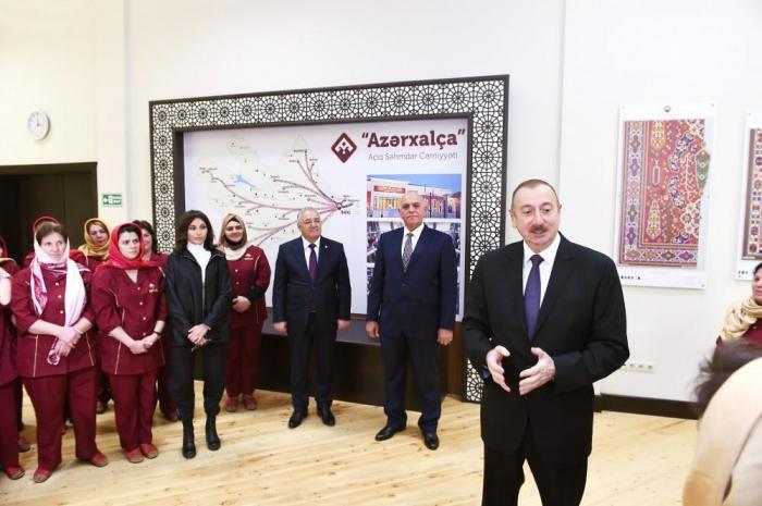 Ölkəmizdə 30 xalça fabrikinin tikilməsi nəzərdə tutulub