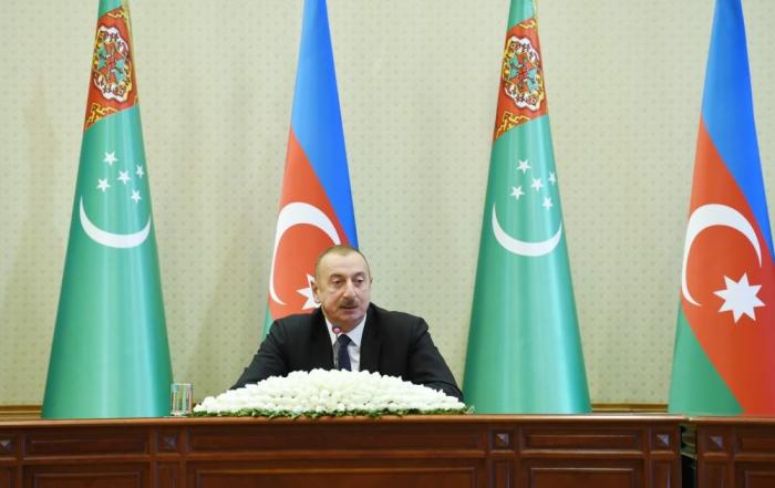"""Prezident: """"Türkmənistan və Azərbaycan həmişə bir-birini dəstəkləyir"""""""