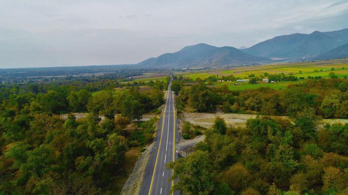 Qax-Zaqatala yolu yenidən quruldu - FOTOLAR