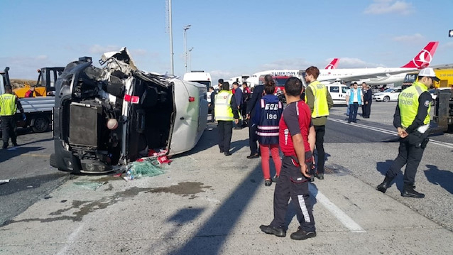 Nine wounded after collision at Istanbul airport