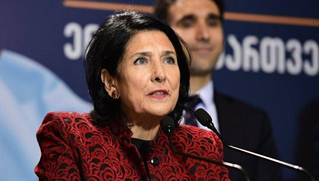Winning presidential candidate of Georgia says she will spare no efforts for state unity