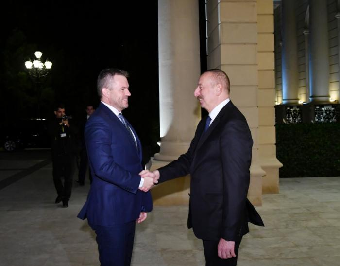 President Ilham Aliyev, Slovak Prime Minister Peter Pellegrini held one-on-one meeting
