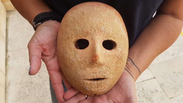 9,000-year-old rare stone mask discovered in Israel