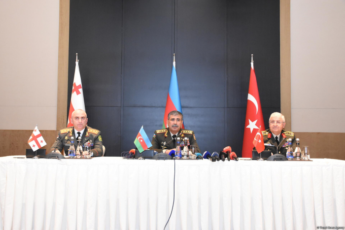Rep.s of power structures of Azerbaijan, Turkey, Georgia sign protocol in Baku