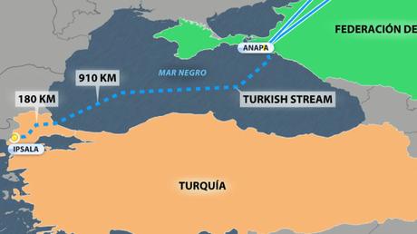 Rusia y Turquía completan el tramo marítimo del gasoducto Turkish Stream