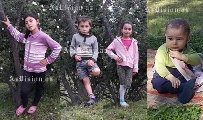 Evdə yanaraq ölən uşaqların FOTOLARI