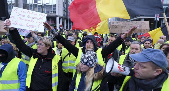 Gilets jaunes à Bruxelles:   des dizaines d