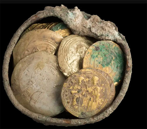 Cache of gold coins and 900-year-old gold earring found in Israel