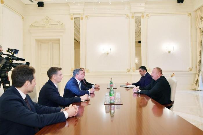Ilham Aliyev receives Russia