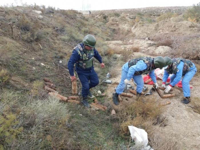 Zavod ərazisində 25 mərmi tapılıb - FOTO