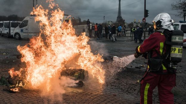 France fuel protests: