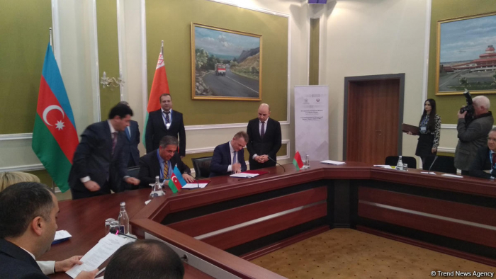 Documents signed during Azerbaijan-Belarus business forum in Baku