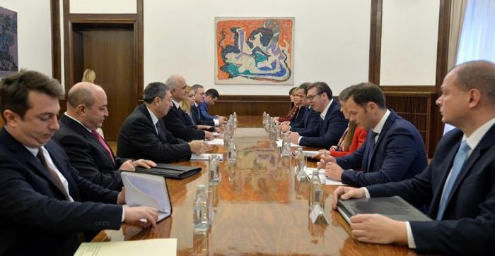 Serbian President met with Azerbaijani delegation