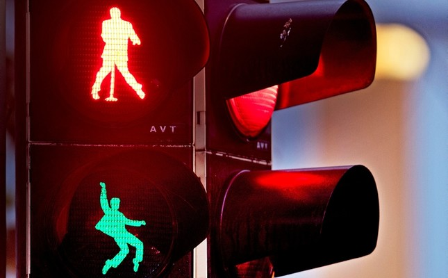 German town transforms traffic lights with