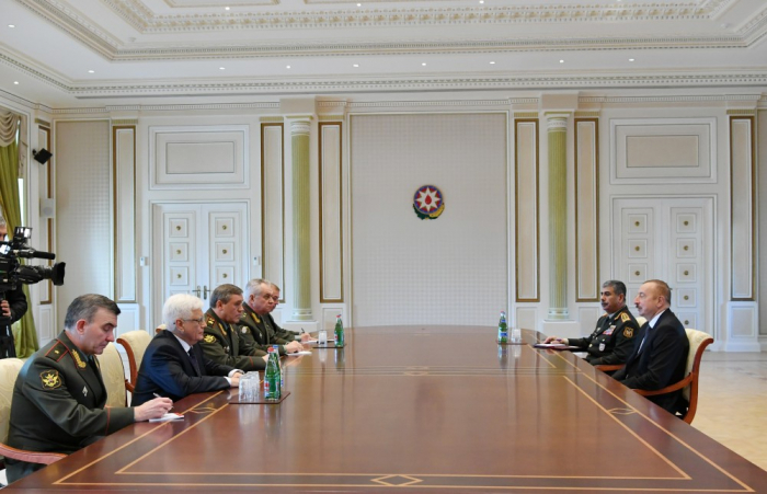 Valeri Gerasimov İlham Əliyevin qəbulunda - Yenilənib
