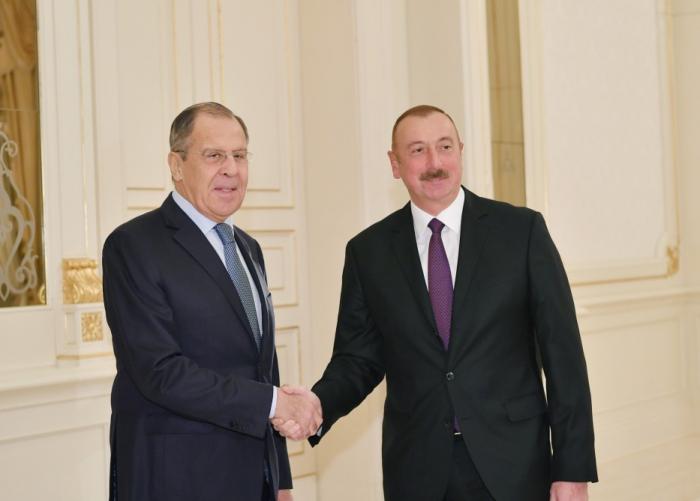 İlham Əliyev Sergey Lavrovu qəbul edib - (Yenilənib)