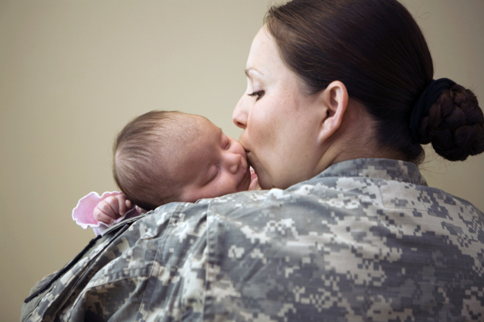 Do military women have higher rates of infertility than civilians?