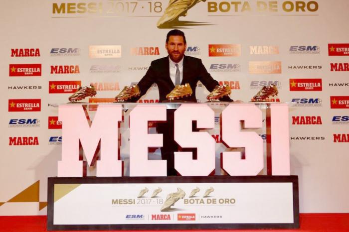 """Messi beşinci dəfə """"Qızıl Buts""""un sahibi oldu"""