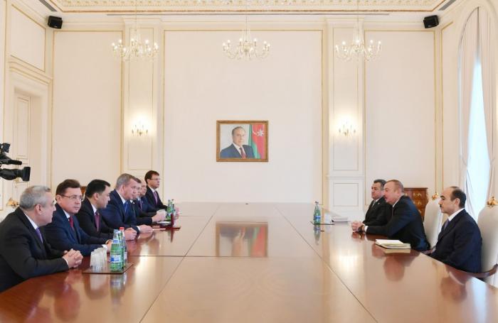 Qubernator İlham Əliyevin qəbulunda - FOTOLAR (Yenilənib)