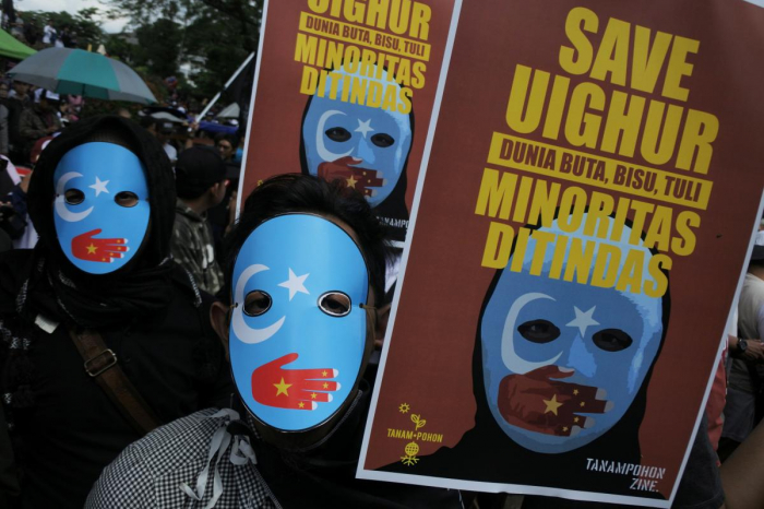 Indonesian Muslims protest against China