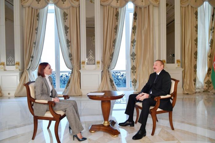"""İlham Əliyevin """"Rossiya-24"""" telekanalına müsahibəsi - TAM MƏTN"""