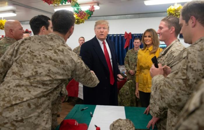 US President Donald Trump visits Iraq