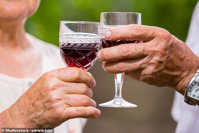 A daily glass of wine is NOT harmful to pensioners with heart disease