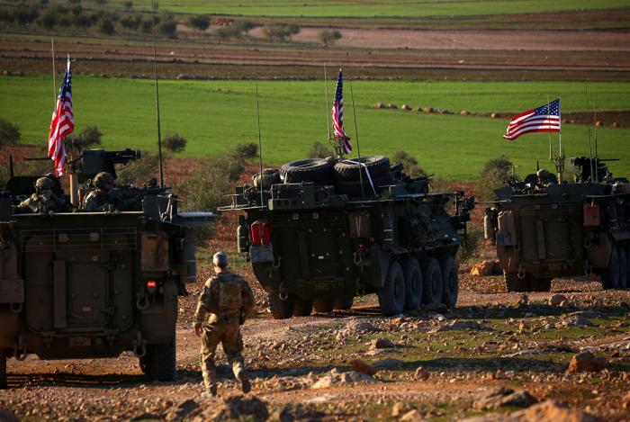 ABŞ hərbçilərinin Suriyadan çıxmasının görüntüləri - VİDEO