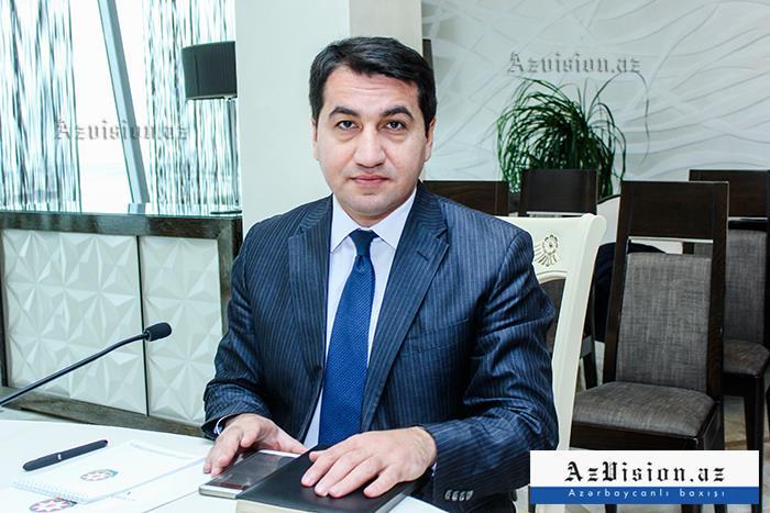 """""""Azərbaycan sabitlik adası kimi tanınır"""" - Hikmət Hacıyev"""
