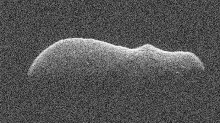 Close up   PHOTOS   of hippo-shaped asteroid approaching Earth